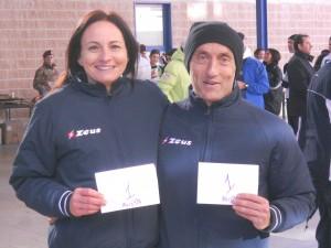 Mauro Bernetti e Daniela Furlani, primi nella corsa a coppie mista